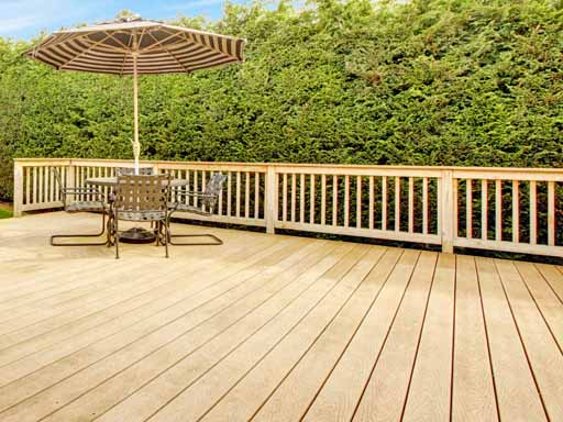 Deck Tiles with Railing